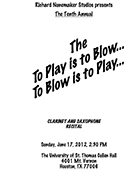 Play is to Blow 2012