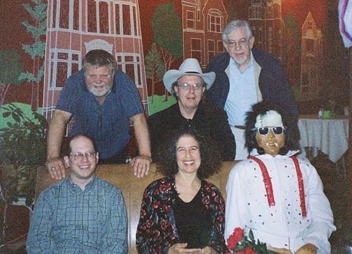 (Top) Marc Satterwhite, Richard Nunemaker, M. William Karlins, Bottom, Jody Rockmaker, Meira Warshauer and